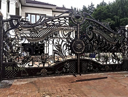 A fancy entrance gate