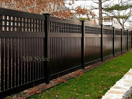 A massive fence in a modern style