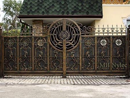 A sophisticated blacksmith entrance gate