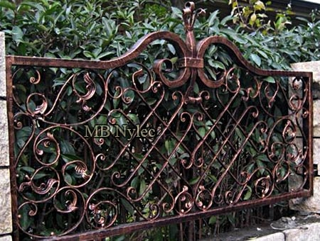 An elegant forged fence