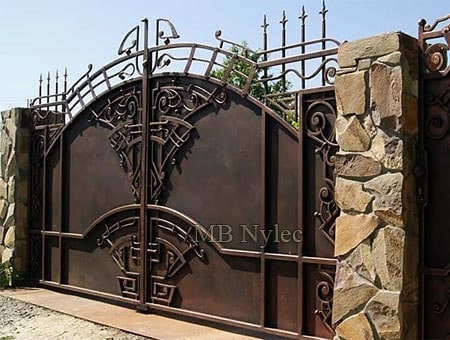 Art deco wrought iron gate