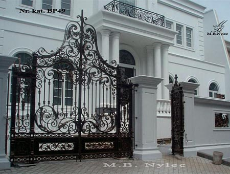 Baroque wrought iron gate
