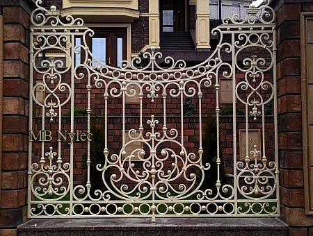 Classic forged fence