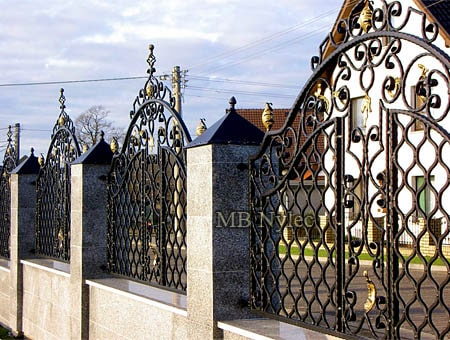Classic house property fencing