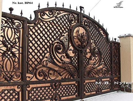 Copper covered gate