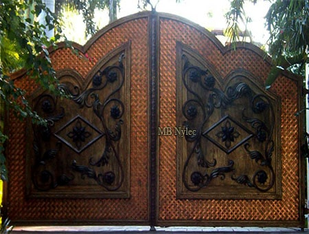 Copper gate in the loft style
