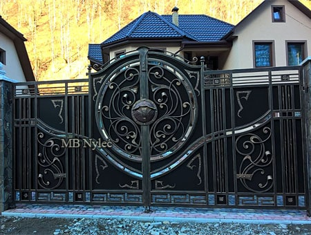 Entrance gate to the house