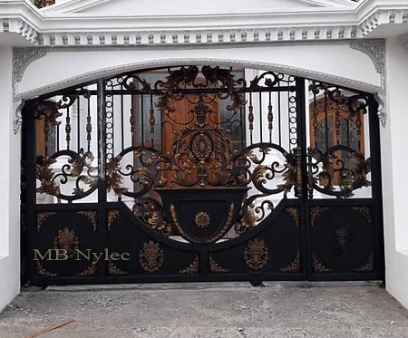 Entrance gate to the residence in oriental type