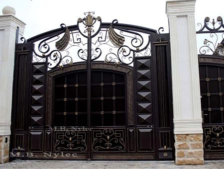 Entrance gate to the residence
