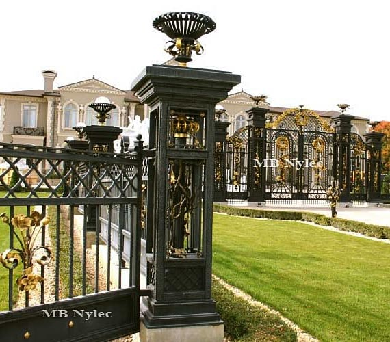 Exclusive forged gate pillar