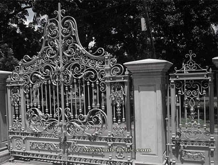 Forged baroque gate