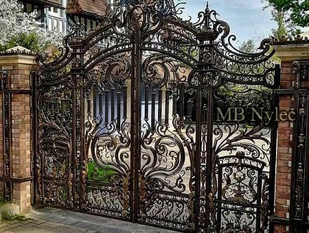 Forged baroque - palace gate