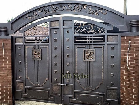 Forged entrance gate in industrial style