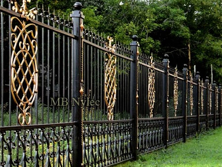 Forged fence for the residence