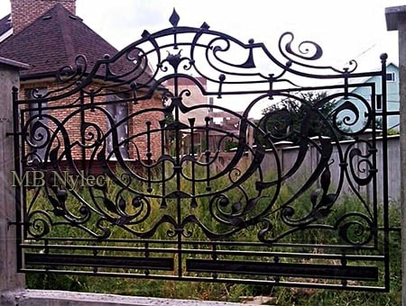 Forged fence iron