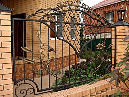 Forged fence wrought