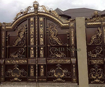 Forged full entrance gate in oriental style