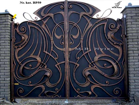 Forged gate full of Art Nouveau