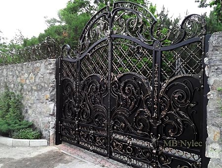 Forged gate full of rococo baroque