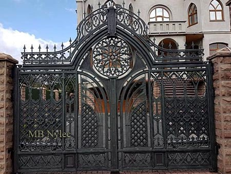 Forged gate in the Gothic style