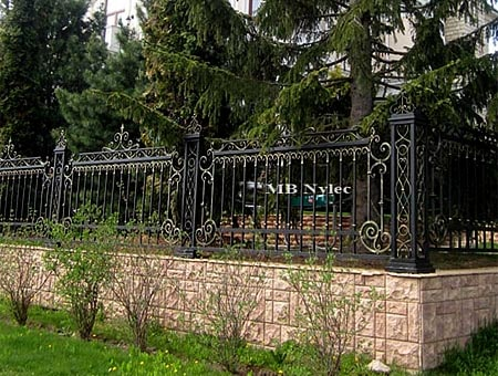Forged mansion fence