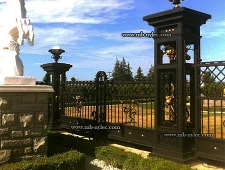 Forged palace fence with openwork poles