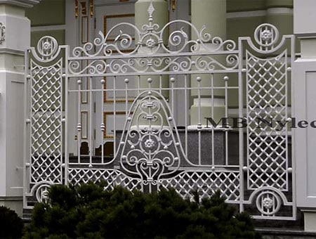Forged palace fence
