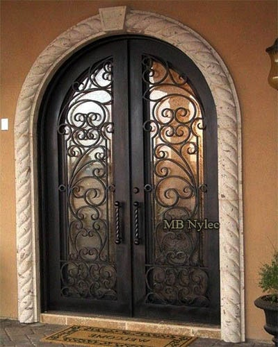 Forged steel entrance door