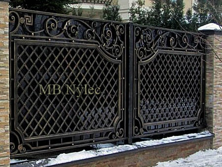 Full wrought iron fence - artistic smithery