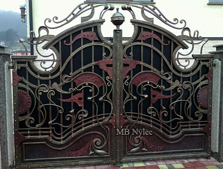Gate to the residence