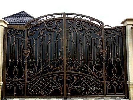 Gate with elements of Art Nouveau