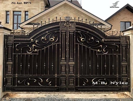 Greek style forged gate