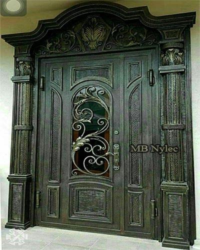 Massive forged door