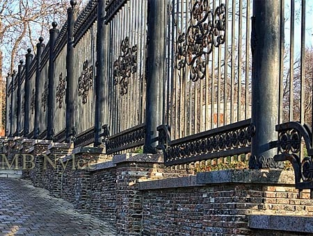 Massive forged fence for the manor, palace, castle