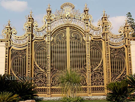 Rococo style palace gate