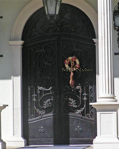 Steel forged entrance door