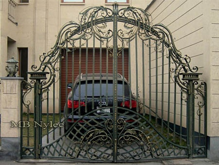 Traditional blacksmith gate