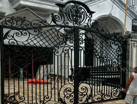 Traditional forged entrance gate