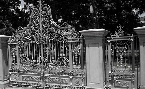 Traditional forged gates
