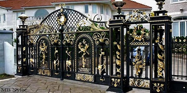 Traditional wrought iron gates and fences