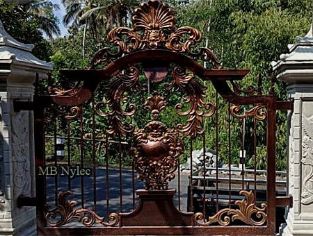 Unique forged oriental fence