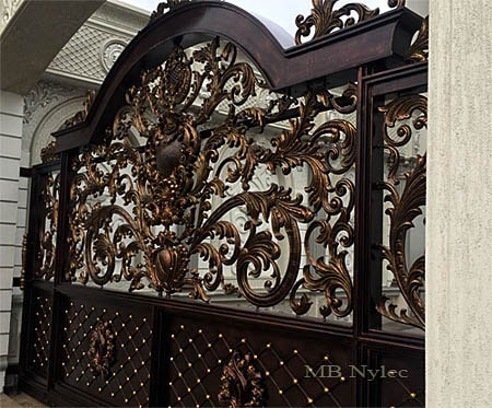 Unique oriental forged entrance gate