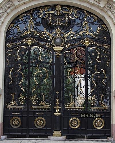 Wrought iron palace door