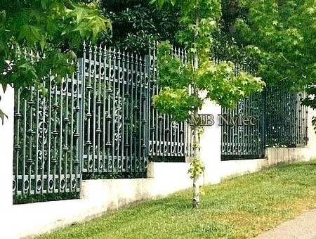 Wrought iron park court fence