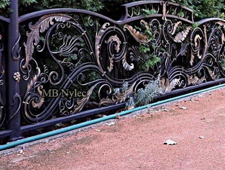 Wrought iron rococo baroque fence