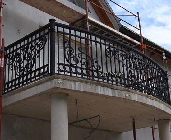 Elegant wrought iron balcony