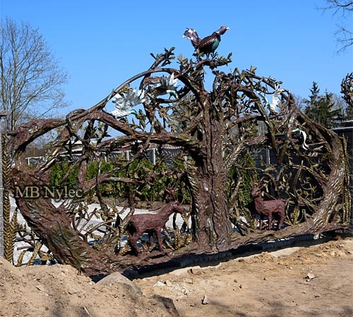 Hand-forged design gate - 6 meters long