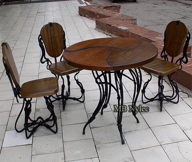 A set of coffee terrace furniture
