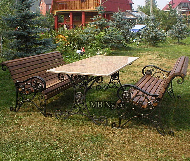 A set of garden furniture