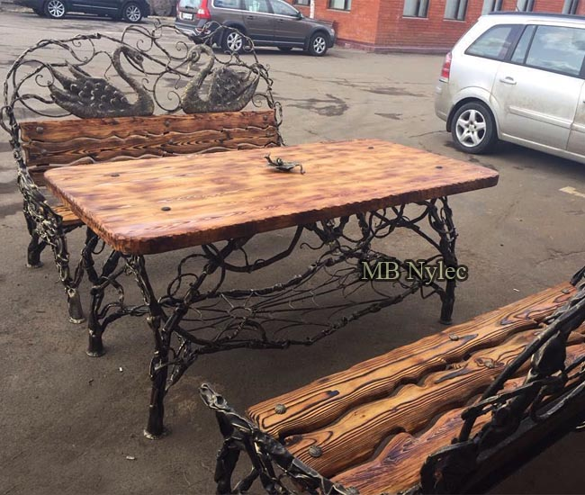 A set of wrought furniture for a wooden highlander's house